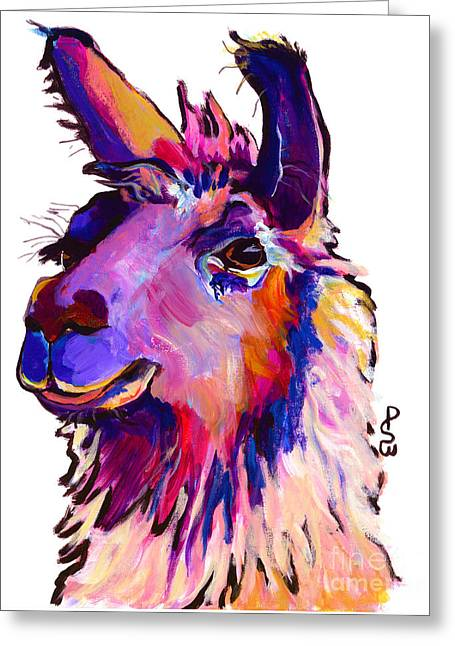 Alpacas Greeting Cards - Fabio Greeting Card by Pat Saunders-White