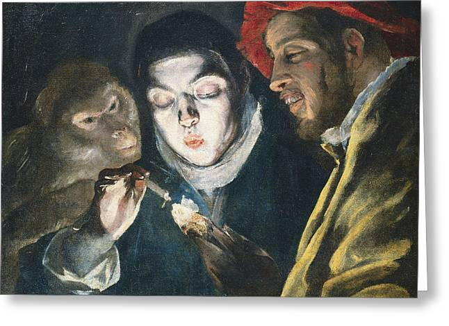 Popular Beliefs Greeting Cards - Fable Greeting Card by El Greco