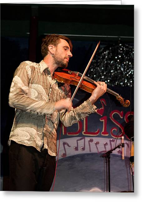 Blissfest Greeting Cards - Fabrice Martinez of Fishtank Ensemble Greeting Card by Bill Gallagher
