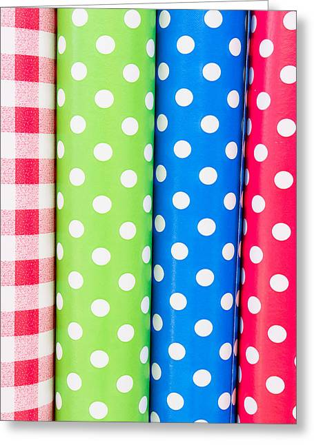 Table Cloth Greeting Cards - Fabrics Greeting Card by Tom Gowanlock