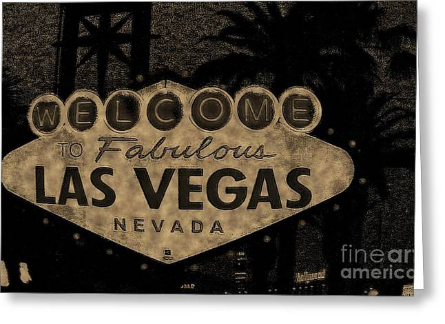 Fabulost Vegas Spelling Correct Greeting Card by John Malone