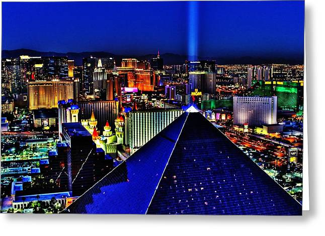 Mgm Greeting Cards - Fabulous Las Vegas Greeting Card by Benjamin Yeager
