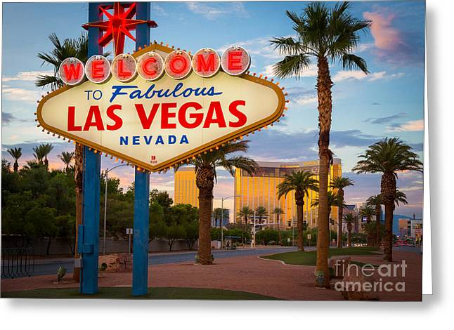 Opulence Greeting Cards - Fabulous Las Vegas Greeting Card by Inge Johnsson