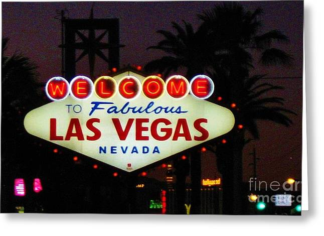 John Malone Artist Greeting Cards - Fabulous Las Vegas Greeting Card by John Malone