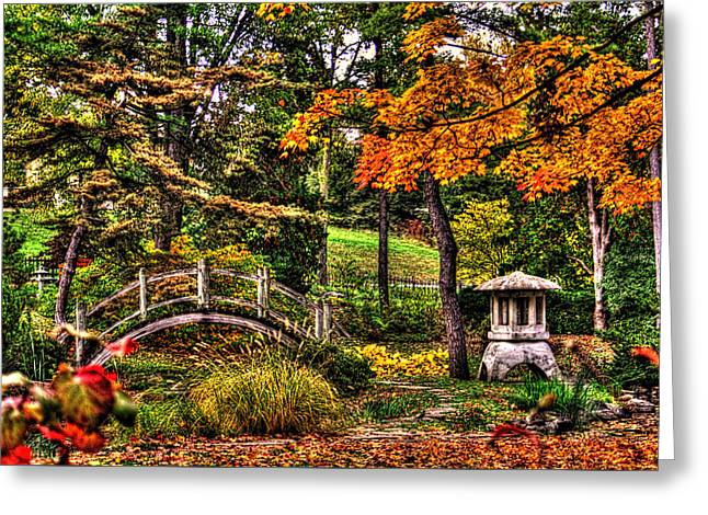Outlook Greeting Cards - Fabyan Japanese Gardens I Greeting Card by Roger Passman