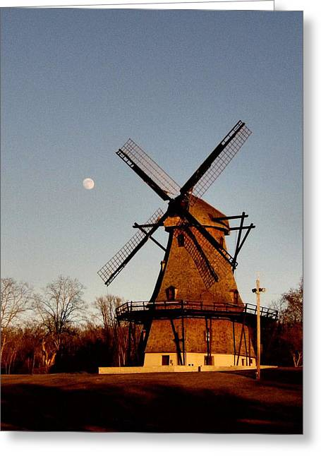 Kane Greeting Cards - Fabyan Windmill Greeting Card by Ely Arsha
