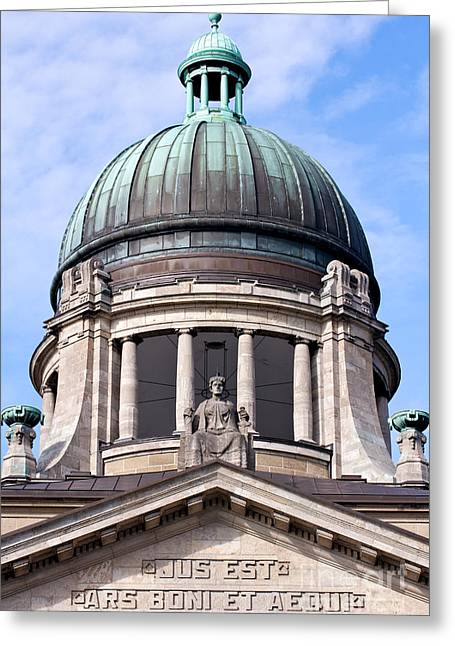Discrimination Greeting Cards - Facade and Dome of the Supreme Hanseatic Court of Hamburg Greeting Card by Jannis Werner
