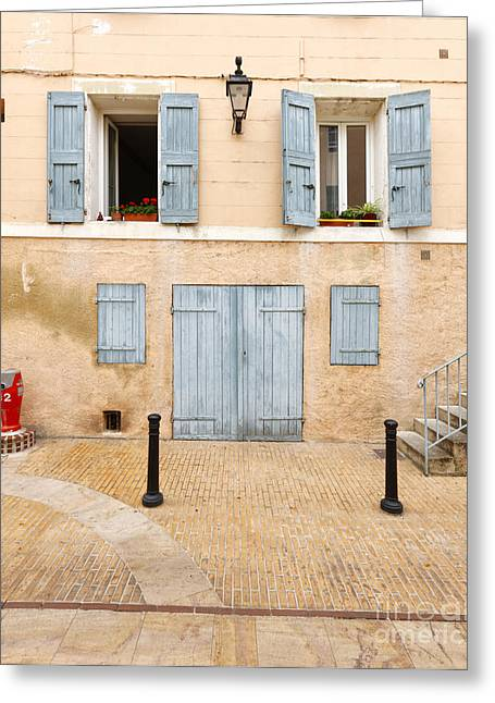 Wooden Stairs Greeting Cards - Facade Greeting Card by Nino Marcutti