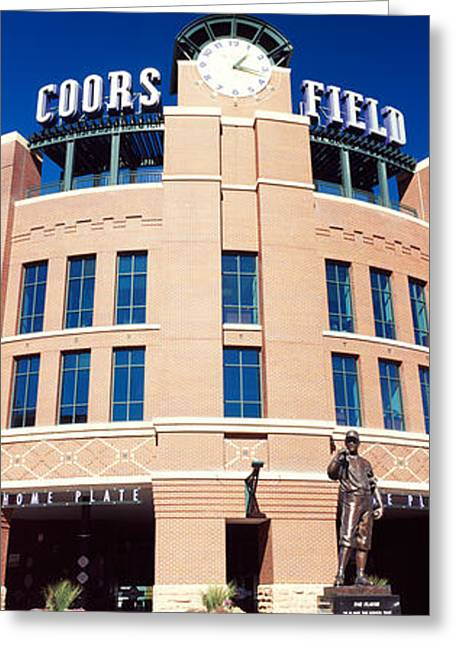 Coors Greeting Cards - Facade Of A Baseball Stadium, Coors Greeting Card by Panoramic Images