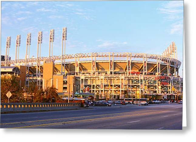 Baseball Stadiums Greeting Cards - Facade Of A Baseball Stadium, Jacobs Greeting Card by Panoramic Images