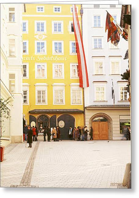 Mozart Greeting Cards - Facade Of A Building, Birthplace Of Greeting Card by Panoramic Images