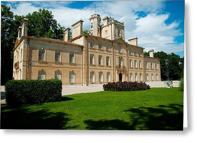 Chateau Greeting Cards - Facade Of A Building, Chateau Davignon Greeting Card by Panoramic Images