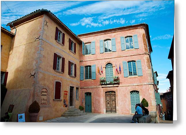 Vaucluse Greeting Cards - Facade Of A Building, Hotel De Ville Greeting Card by Panoramic Images
