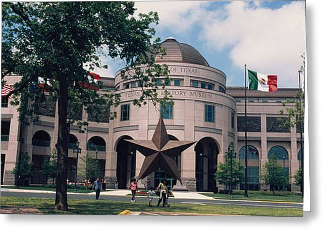 Star Shape Greeting Cards - Facade Of A Building, Texas State Greeting Card by Panoramic Images