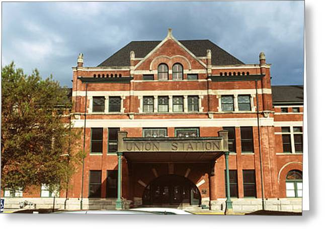 Facade Of A Building, Union Station Greeting Card by Panoramic Images