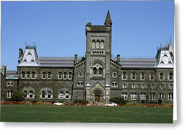 College Buildings Images Greeting Cards - Facade Of A Building, University Greeting Card by Panoramic Images