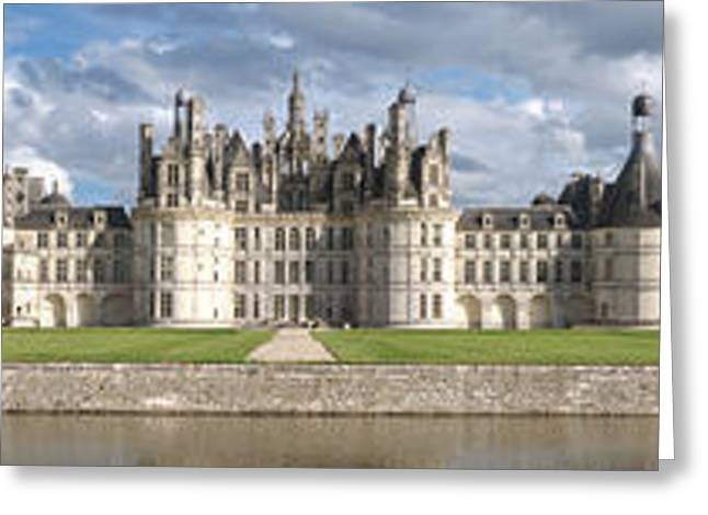 Chateau Greeting Cards - Facade Of A Castle, Chateau De Greeting Card by Panoramic Images