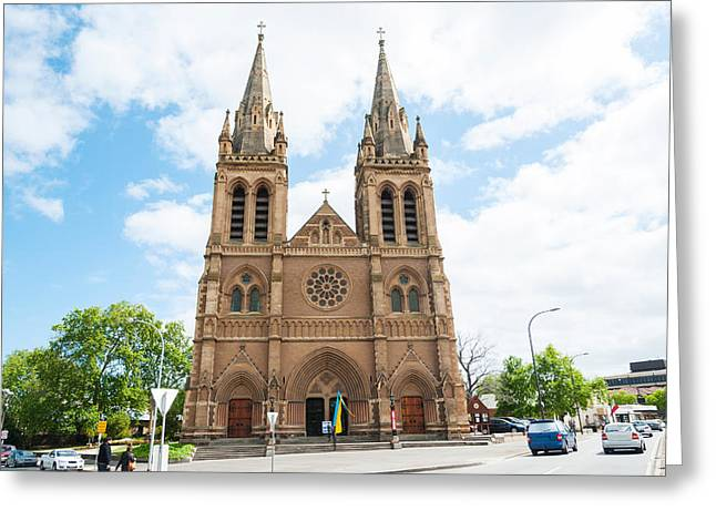 Anglican Greeting Cards - Facade Of A Cathedral, St. Peters Greeting Card by Panoramic Images