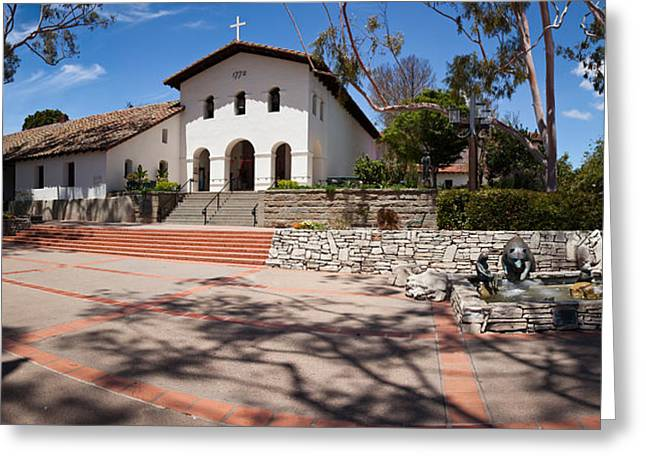 San Luis Obispo Greeting Cards - Facade Of A Church, Mission San Luis Greeting Card by Panoramic Images