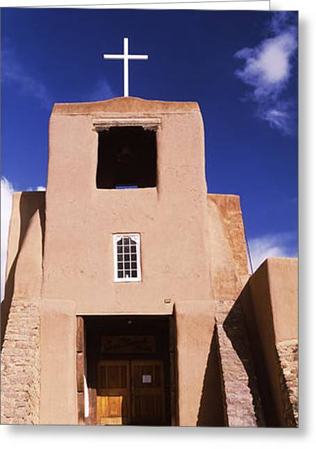 Pueblo Architecture Greeting Cards - Facade Of A Church, San Miguel Mission Greeting Card by Panoramic Images