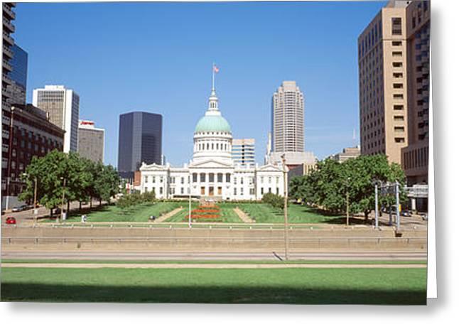 Facades Greeting Cards - Facade Of A Courthouse, Old Courthouse Greeting Card by Panoramic Images