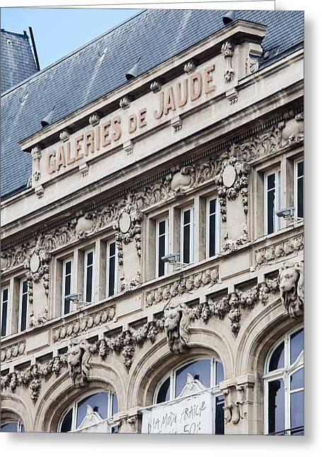 Department Stores Greeting Cards - Facade Of A Department Store, Place De Greeting Card by Panoramic Images