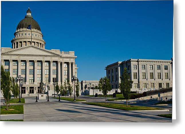 Capitol Hill Greeting Cards - Facade Of A Government Building, Utah Greeting Card by Panoramic Images