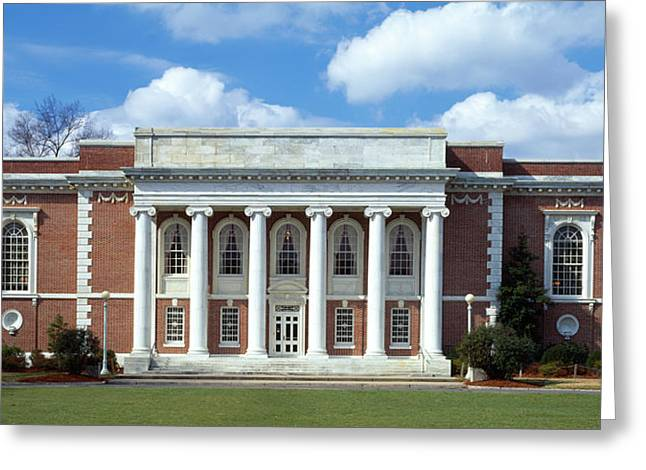 Facade Of A Library, Lilly Library Greeting Card by Panoramic Images