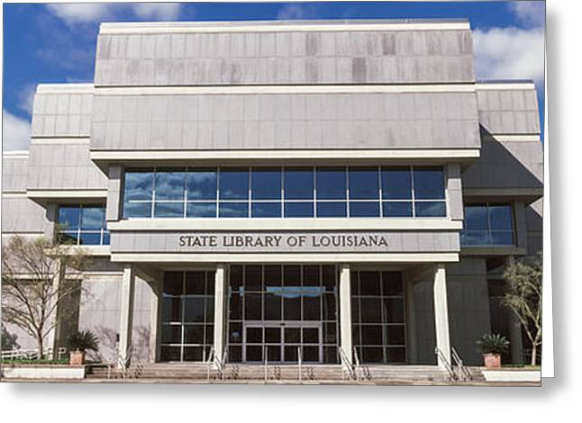 Baton Rouge Greeting Cards - Facade Of A Library, State Library Greeting Card by Panoramic Images