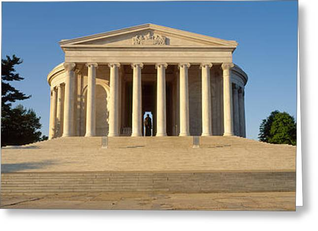 Jefferson Memorial Greeting Cards - Facade Of A Memorial, Jefferson Greeting Card by Panoramic Images