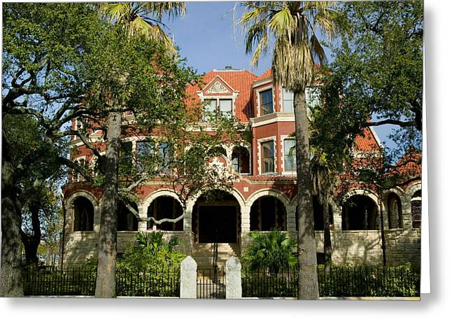 Galveston Greeting Cards - Facade Of A Museum, Moody Mansion Greeting Card by Panoramic Images