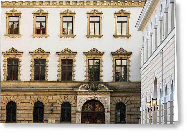 Facade Of A Palace, Schloss Thurn And Greeting Card by Panoramic Images
