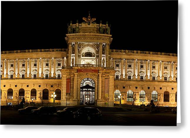 Neo Greeting Cards - Facade Of A Palace, The Hofburg Greeting Card by Panoramic Images