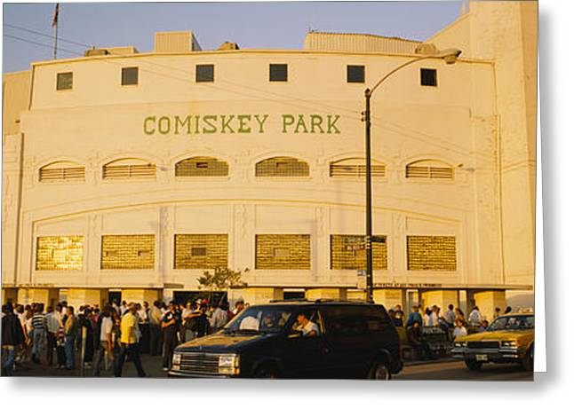 Professional Sports Greeting Cards - Facade Of A Stadium, Old Comiskey Park Greeting Card by Panoramic Images