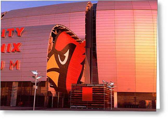Phoenix Architecture Greeting Cards - Facade Of A Stadium, University Greeting Card by Panoramic Images