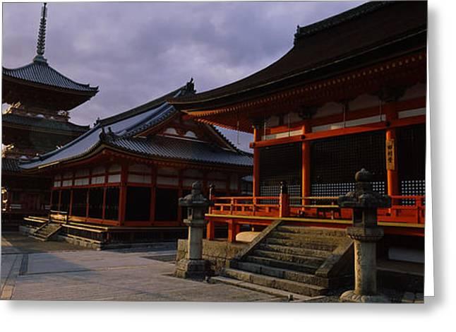 Facade Of A Temple, Kiyomizu-dera Greeting Card by Panoramic Images