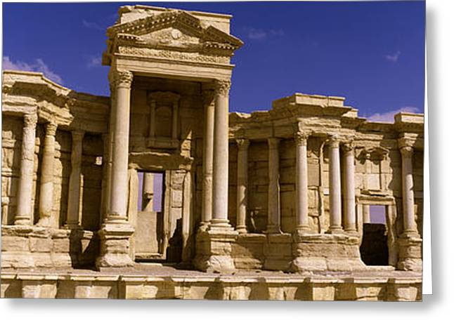 Theater Greeting Cards - Facade Of A Theater, Roman Theater Greeting Card by Panoramic Images