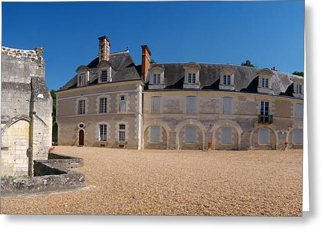Facade Of An Abbey, La Chartreuse Du Greeting Card by Panoramic Images