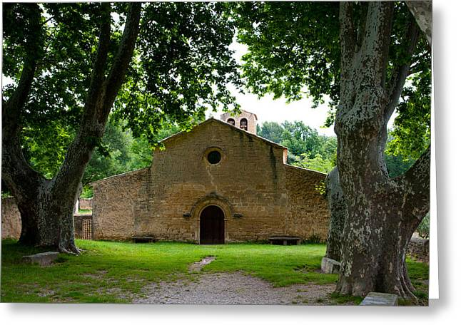 Vaucluse Greeting Cards - Facade Of An Old Church, Vaugines Greeting Card by Panoramic Images