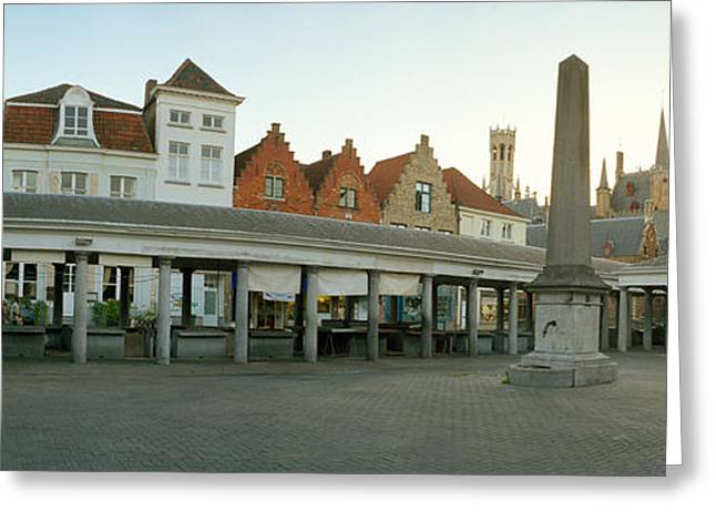 Fish Market Greeting Cards - Facade Of An Old Fish Market, Vismarkt Greeting Card by Panoramic Images