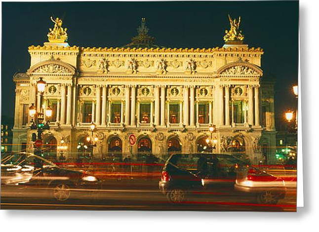 The Houses Greeting Cards - Facade Of An Opera House, Palais Greeting Card by Panoramic Images