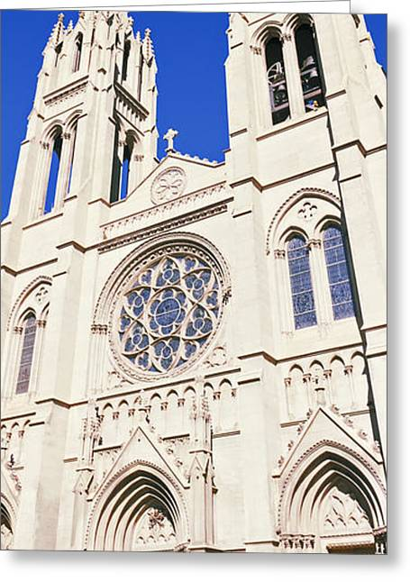Facades Greeting Cards - Facade Of Cathedral Basilica Greeting Card by Panoramic Images