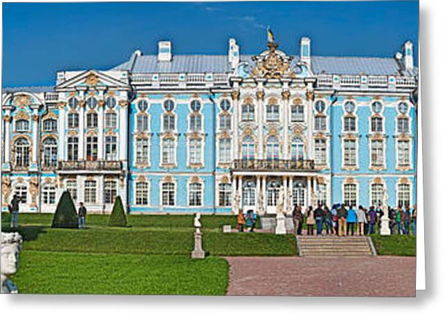 18th Century Greeting Cards - Facade Of Catherine Palace, Tsarskoye Greeting Card by Panoramic Images
