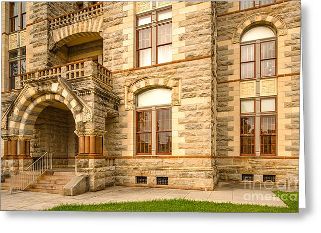 Fayette County Greeting Cards - Facade of Fayette County Courthouse - La Grange Texas Greeting Card by Silvio Ligutti