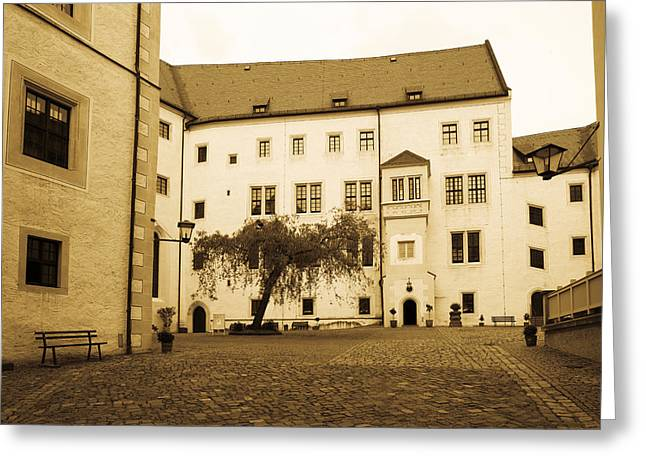 Saxony Greeting Cards - Facade Of The Castle Site Of Famous Ww2 Greeting Card by Panoramic Images