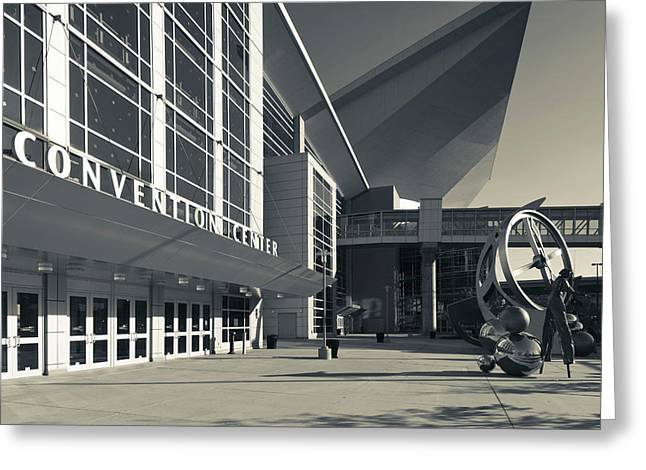 Facade Of The Centurylink Center Omaha Greeting Card by Panoramic Images