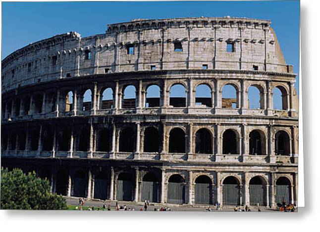 Facade Of The Colosseum, Rome, Italy Greeting Card by Panoramic Images