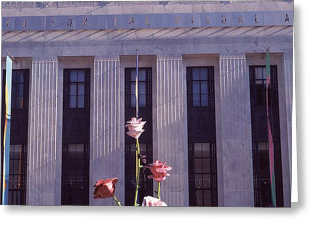 Nashville Panorama Greeting Cards - Facade Of The Frist Center For The Greeting Card by Panoramic Images