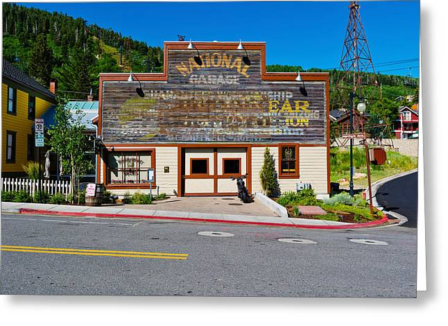 City Photography Greeting Cards - Facade Of The High West Distillery Greeting Card by Panoramic Images