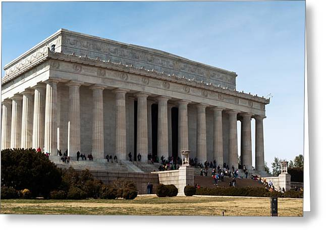 Beaux-arts Greeting Cards - Facade Of The Lincoln Memorial, The Greeting Card by Panoramic Images